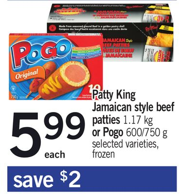 Patty King Jamaican Style Beef Patties 1.17 Kg Or Pogo 600/750 G