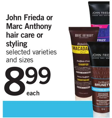 John Frieda Or Marc Anthony Hair Care Or Styling