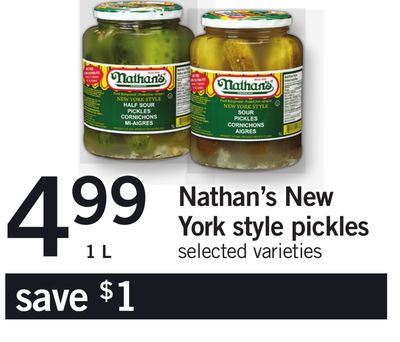 Nathan's New York Style Pickles - 1 L
