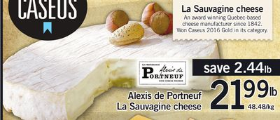 Alexis De Portneuf La Sauvagine Cheese