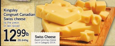 Kingsley Congruet Canadian Swiss Cheese
