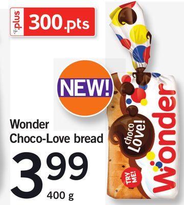 Wonder Choco-love Bread - 400 g