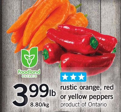 Rustic Orange - Red Or Yellow Peppers