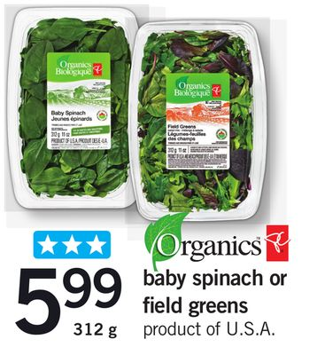 Baby Spinach Or Field Greens - 312 g