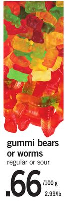 Gummi Bears Or Worms - 100 G
