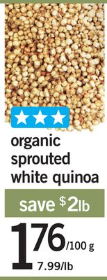 Organic Sprouted White Quinoa - 100 G