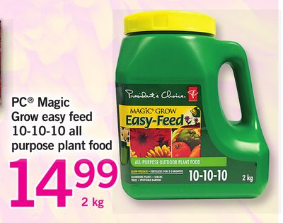 PC Magic Grow Easy Feed 10-10-10 All Purpose Plant Food - 2 Kg