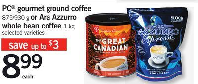 PC Gourmet Ground Coffee - 875/930 G Or Ara Azzurro Whole Bean Coffee .1 Kg