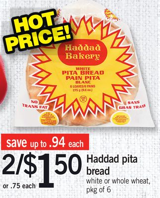 Haddad Pita Bread - Pkg Of 6