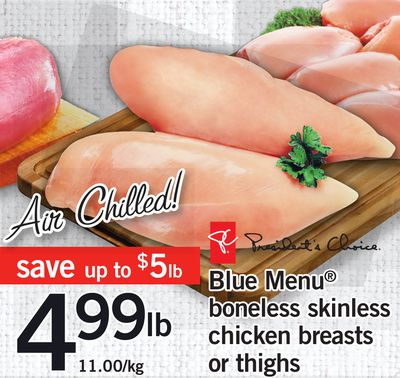 Blue Menu Boneless Skinless Chicken Breasts Or Thighs