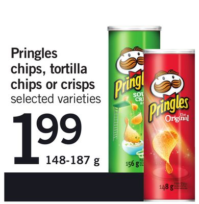 Pringles Chips - Tortilla Chips Or Crisps - 148-187 g