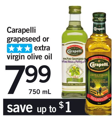 Carapelli Grapeseed Or Extra Virgin Olive Oil - 750 mL