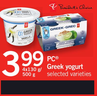 PC Greek Yogurt - 4x130 G/ 500 g