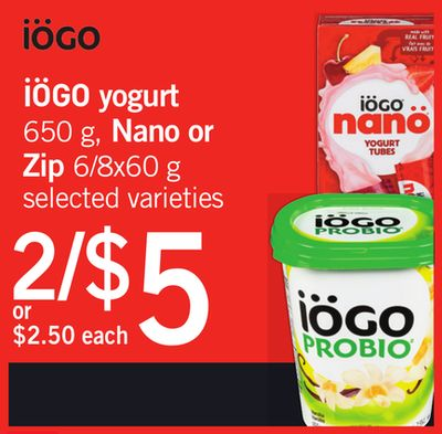 Iögo Yogurt - 650 G - Nano Or Zip - 6/8x60 G