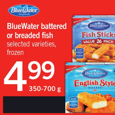 Bluewater Battered Or Breaded Fish - 350-700 g