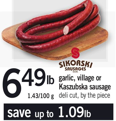 Garlic - Village Or Kaszubska Sausage