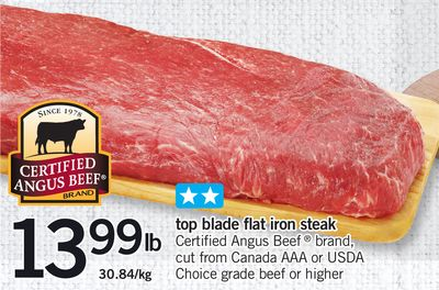 Top Blade Flat Iron Steak
