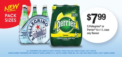 S.pellegrino Or Perrier - 6 X 1 L Case Any Flavour