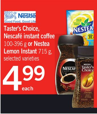 Taster's Choice - Nescafé Instant Coffee - 100-396 g Or Nestea Lemon Instant - 715 g