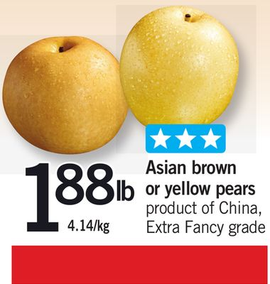 Asian Brown Or Yellow Pears