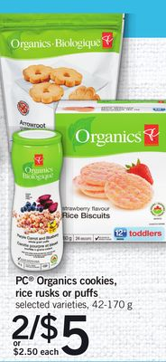 PC Organics Cookies - Rice Rusks Or Puffs - 42-170 g