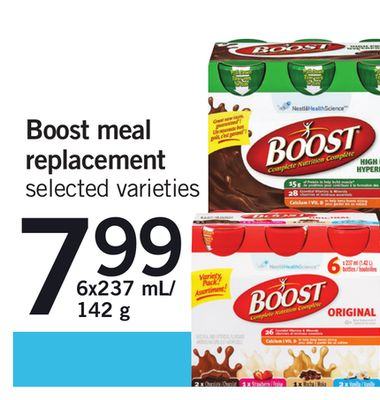 Boost Meal Replacement - 6x237 Ml/142 G