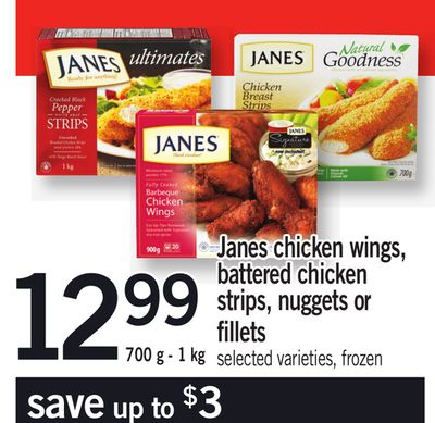 Janes Chicken Wings - Battered Chicken Strips - Nuggets Or Fillets - 700 g - 1 Kg