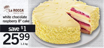 White Chocolate Raspberry 8'' Cake - 1.3 Kg