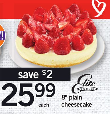 8'' Plain Cheesecake