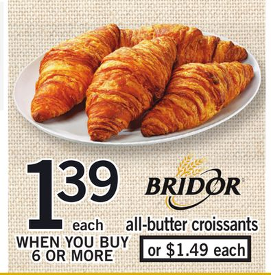 Bridor All-butter Croissants