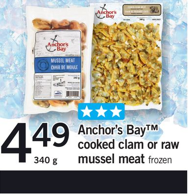 Anchor's Bay Cooked Clam Or Raw Mussel Meat - 340 g