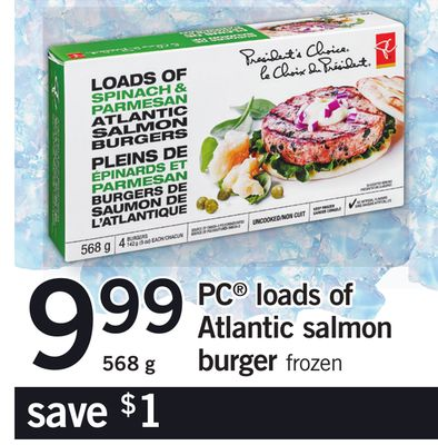 PC Loads Of Atlantic Salmon Burger - 568 g