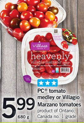 PC Tomato Medley Or Villagio Marzano Tomatoes - 680 g