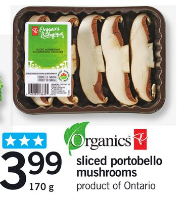 Sliced Portobello Mushrooms - 170 g