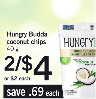 Hungry Budda Coconut Chips - 40 g