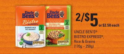 Uncle Ben's Bistro Express - Rice & Grains - (170g – 250g)