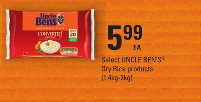 Select Uncle Ben's Dry Rice Products - (1.4kg-2kg)
