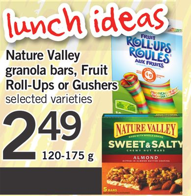 Nature Valley Granola Bars - Fruit Roll-ups Or Gushers - 120-175 g
