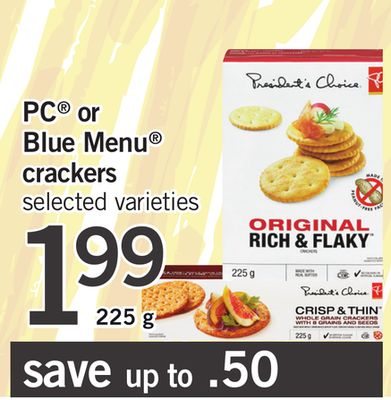 PC Or Blue Menu Crackers - 225 g