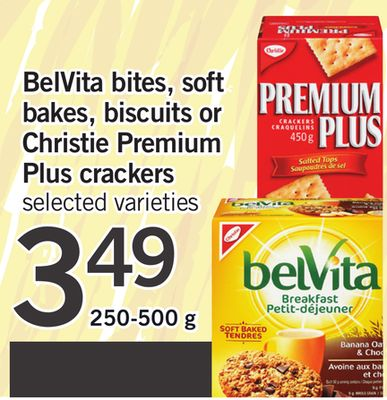 Belvita Bites - Soft Bakes - Biscuits Or Christie Premium Plus Crackers - 250-500 g