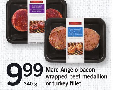 Marc Angelo Bacon Wrapped Beef Medallion Or Turkey Fillet - 340 g