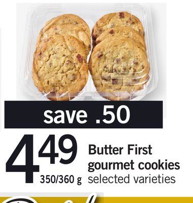 Butter First Gourmet Cookies - 350/360 g