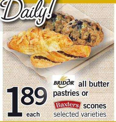 All Butter Pastries Or Scones