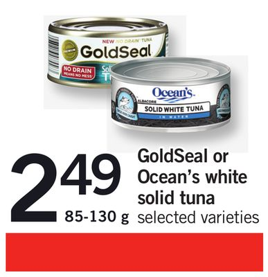 Goldseal Or Ocean's White Solid Tuna - 85-130 g