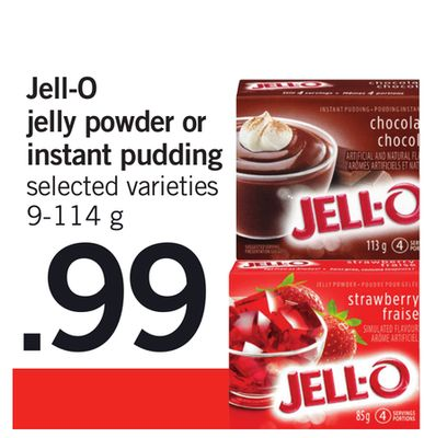 Jell-o Jelly Powder Or Instant Pudding - 9-114 g