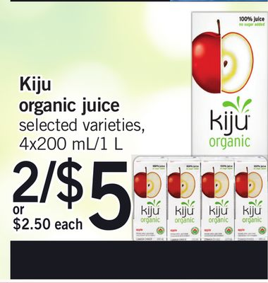 Kiju Organic Juice - 4x200 Ml/1 L