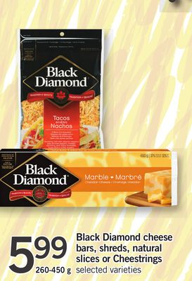 Black Diamond Cheese Bars - Shreds - Natural Slices Or Cheestrings - 260-450 g
