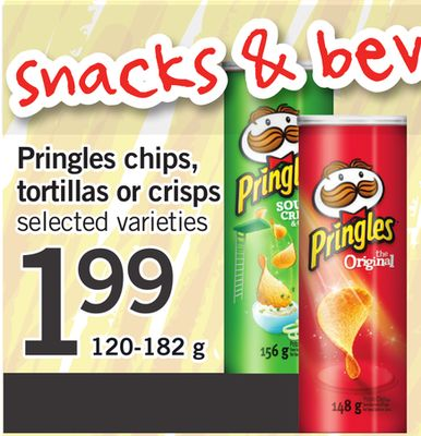 Pringles Chips - Tortillas Or Crisps - 120-182 g