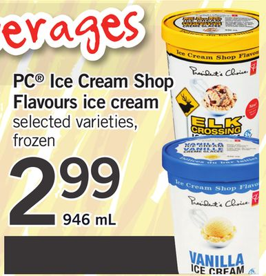 PC Ice Cream Shop Flavours Ice Cream - 946 mL