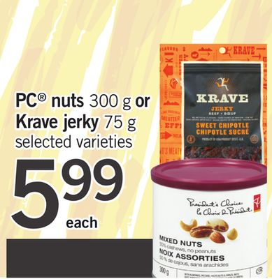 PC Nuts - 300 G Or Krave Jerky - 75 G